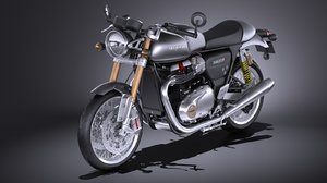 3d model triumph thruxton r