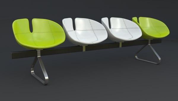 3d fjord bench sistema iray