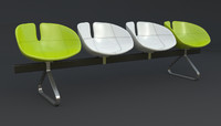 Fjord Bench Four Sistema Iray + 3ds max