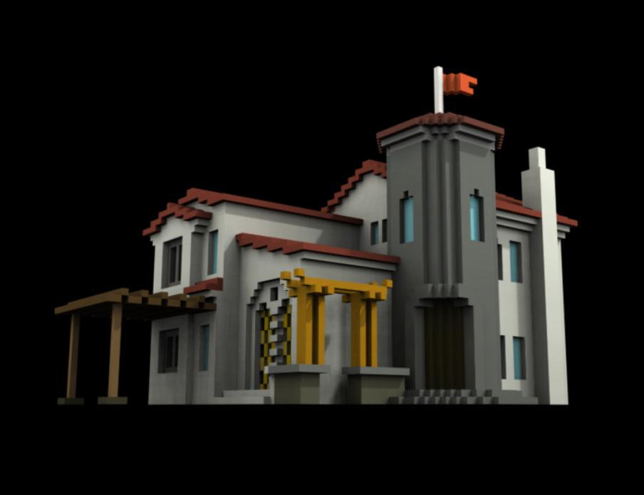 voxel sculpture 3d model