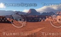 Fantasy desert landscape