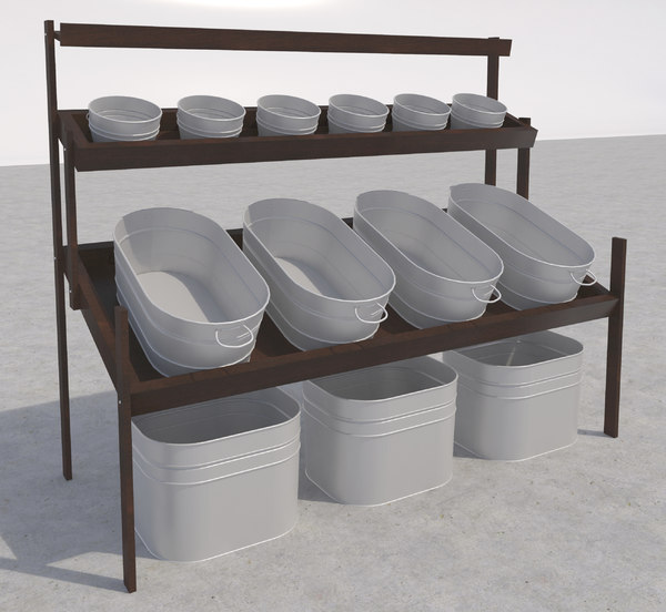 wood fruit stand 3d max