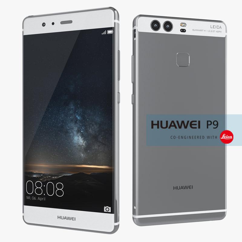 huawei p9 flagship smartphone 3d max