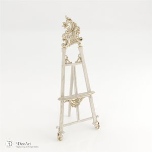 3d model carved easel