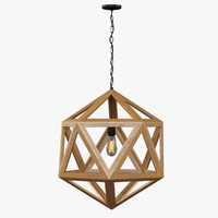 restoration hardware wood polyhedron max