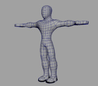 Basic low poly male