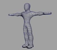 3d model basic male