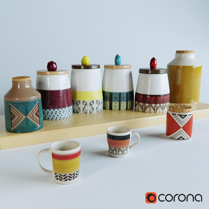 pottery etno style 3d model