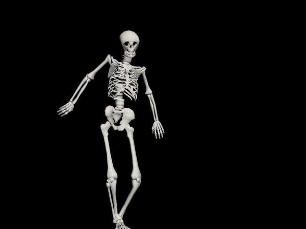 skeleton rigged biped 3d model