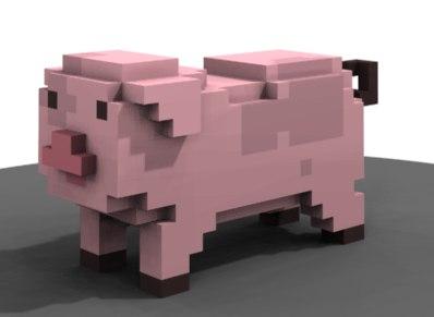 3d model figure animal