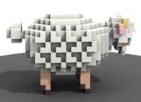 3d model voxel sculpture