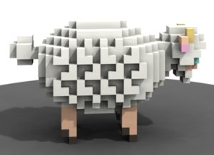 3d model voxel sculpture