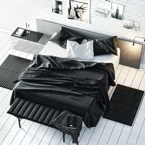bedset bed 3d obj