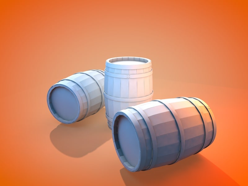 3d model of medieval barrel