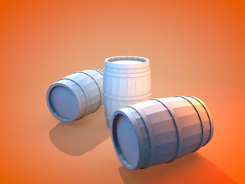 3d model of medieval barrel