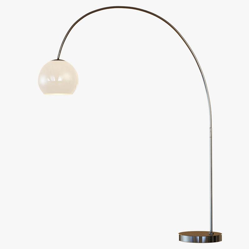 3d floor lamp overarching