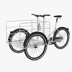 3d fkv cargo bicycle model