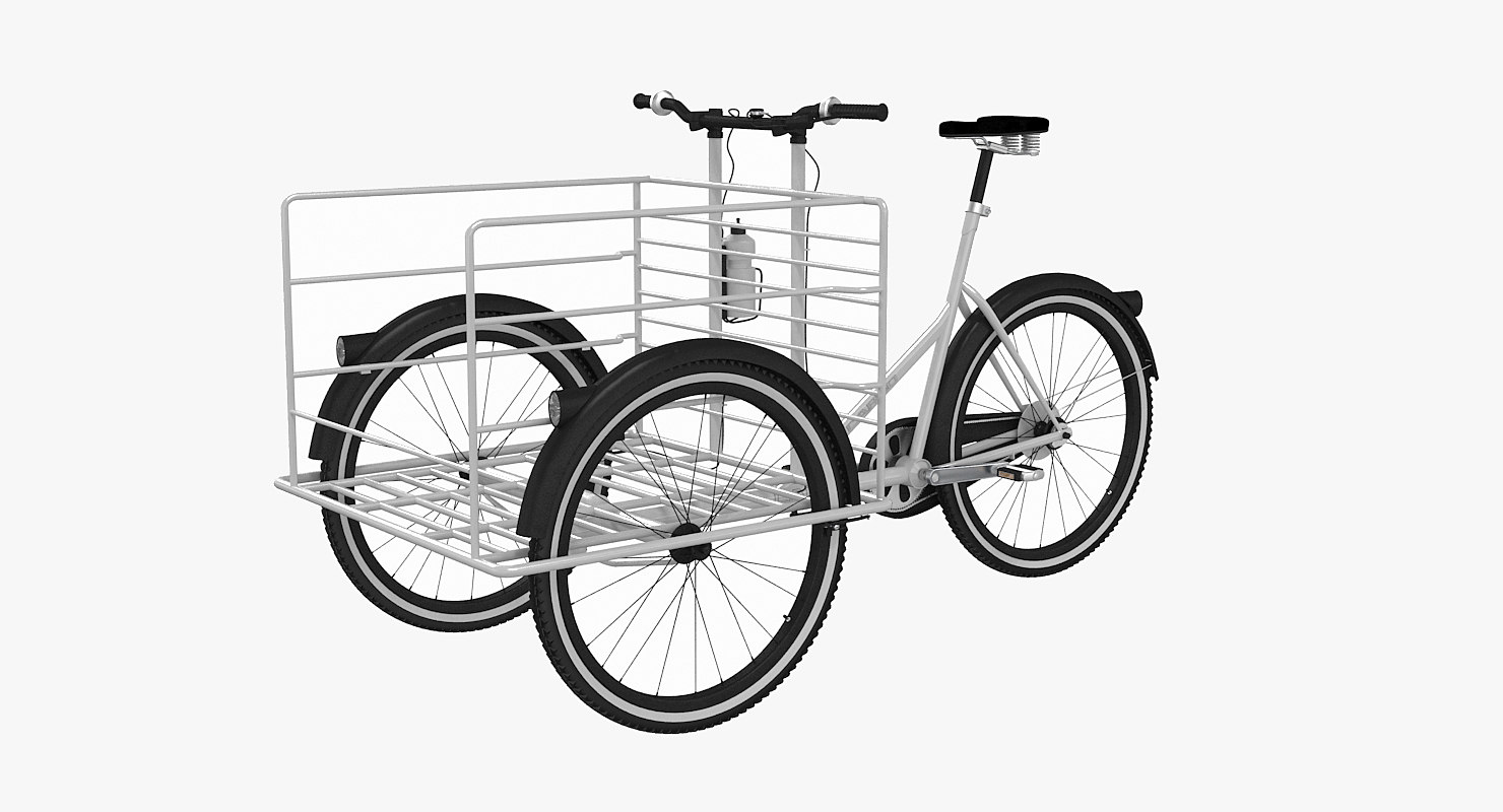 3d fkv cargo bicycle model