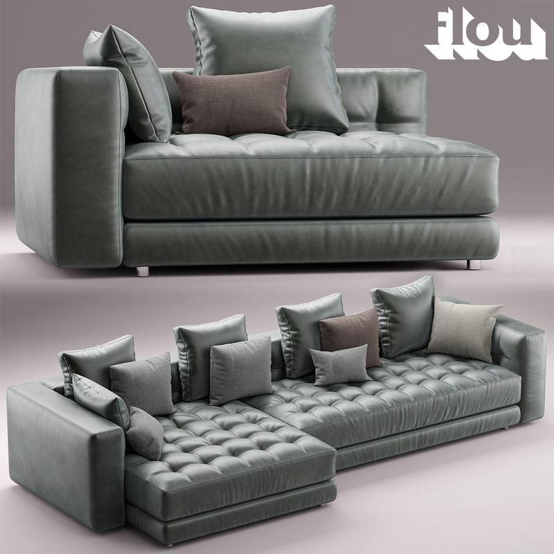 3d model doze flou sofa