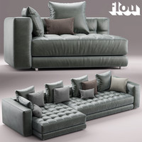 3d model doze flou sofa