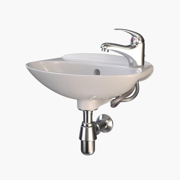 3d ceramic bathroom sink faucet model