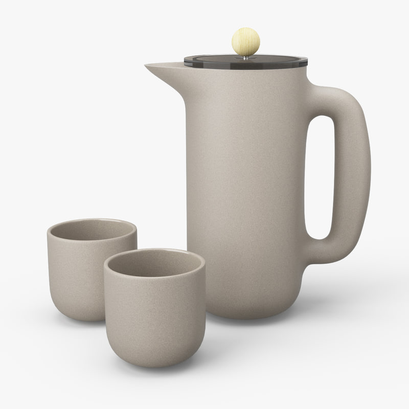 3d model of muuto push cofee maker