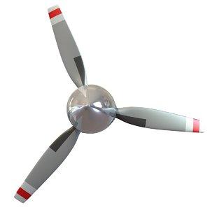 3d obj aircraft propeller blade