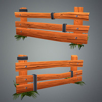 Low Poly Farm Fence