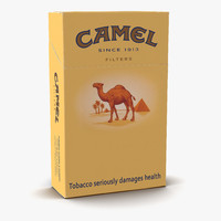 closed cigarettes camel 3d c4d