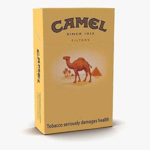 closed cigarettes camel 3d c4d