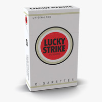 closed cigarettes lucky strike 3d model