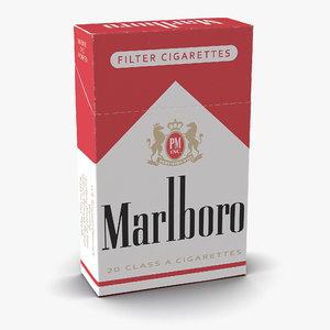 3ds closed cigarettes pack marlboro