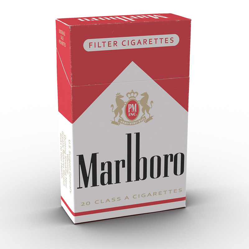 3ds closed cigarettes pack marlboro
