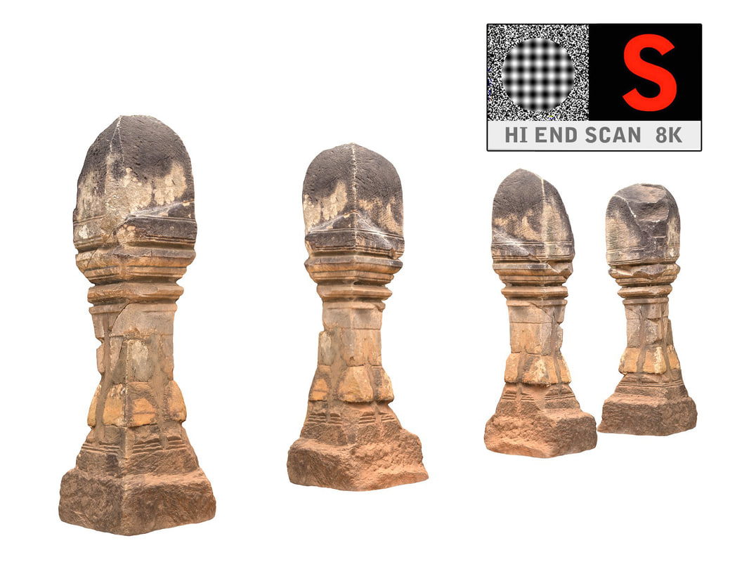 3d ancient column cambodia