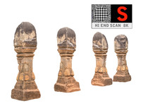 3d ancient column cambodia