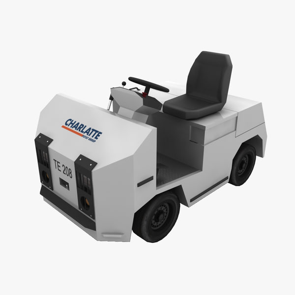 charlatte te-208 baggage tractor 3ds