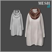 3d model dress scarf