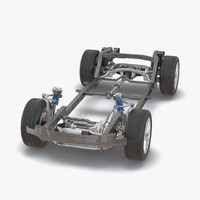 3d model suv chassis frame