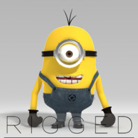 3d minion rigged model
