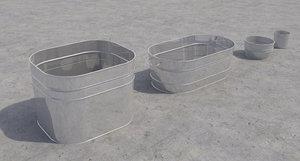 3d model bins buckets