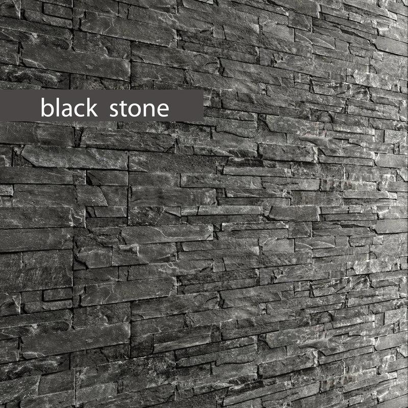 3d model stone slate black