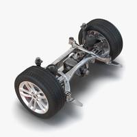 SUV Back Suspension 3D Model