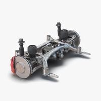 3d model suv suspension 2