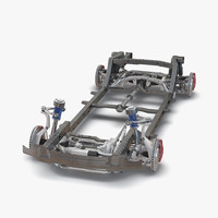 suv chassis frame 2 3ds