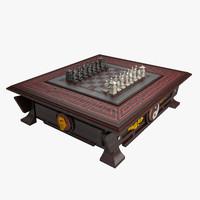 3d model chess table 2