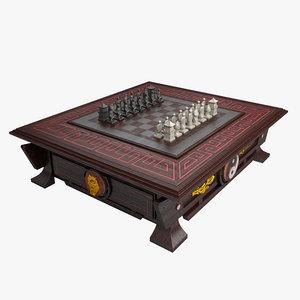 3d model chess table 2