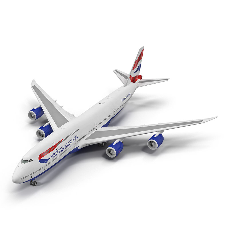 boeing 747-8i british airways 3d 3ds