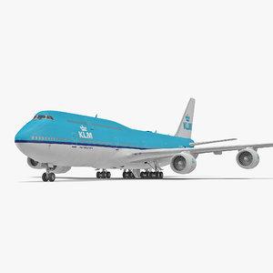 boeing 747-8i klm 3d 3ds