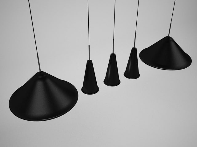 3d tom dixon cone pendant light model