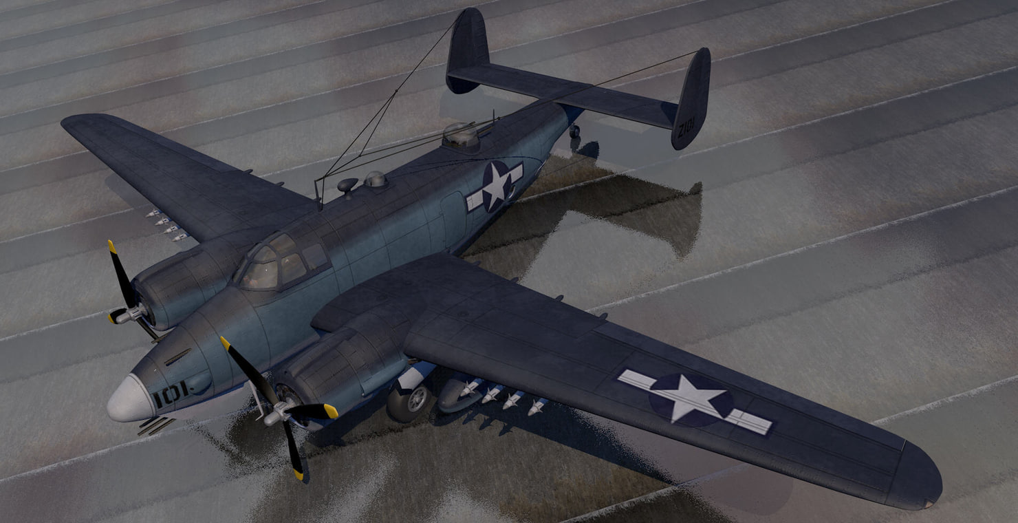 lockheed pv-2 harpoon bomber 3d model